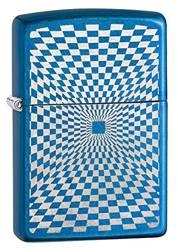 - Zippo Minimalism Design Pocket Lighter, Cerulean