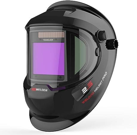 Pro Solar Power Auto-Darkening Welding Helmet Mask Grinding Welder Big Vision