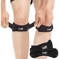 Patella Tendon Knee Strap 2-delige set, kniepijnverlichtingssorthese wandelen, voetbal, basketbal, hardlopen, jumpers…