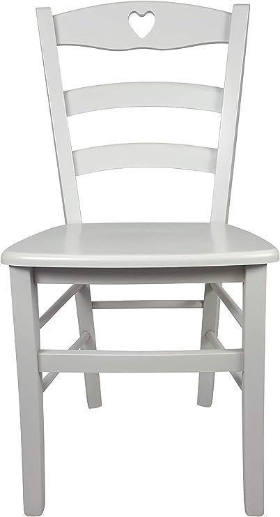Sedia Cuore In Legno Massello Vari Colori E Sedute Disponibili Alta Qualita Ordine Minimo 2 Pezzi Laccata Bianca Massello Amazon It Casa E Cucina