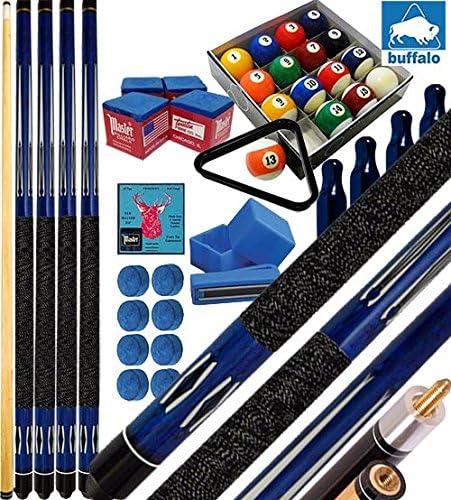 Buffalo Tycoon azul Kit 4 sellos Billar Pool cm.145, punta o mm.12, smont. Li 2 pz. Bilie 57,2 Pool, accesorios, recambios y regalo, Clase detalles.: Amazon.es: Deportes y aire libre