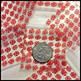 "2020 Apple Mini Ziplock Baggies Red, Orange & Pink Designs on Clear Background You Choose 100 Bags 2"" X 2"" (Red Dice)"