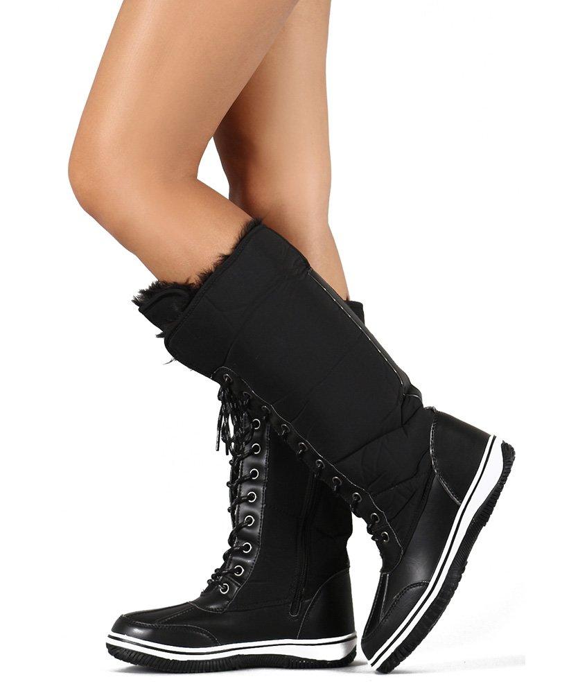 Room Of Fashion レディース B0789RX4LT 5.5 B(M) US|Black Wear Laced Up Or Folded Down Black Wear Laced Up Or Folded Down 5.5 B(M) US