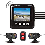 VSYSTO All Waterproof, 150 Degree Fish Eye, Motorcycle Dash Cam Recording Camera DVR, with 2'' Screen, IMX307, Night Vision D