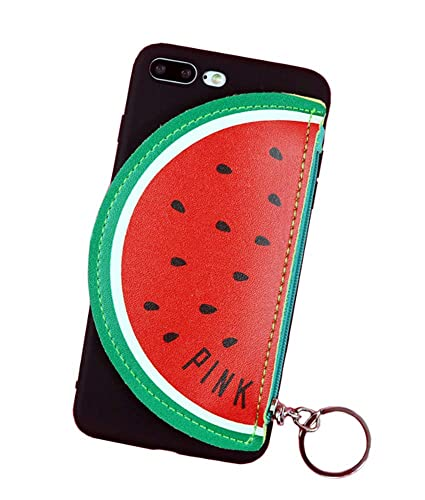 new style ed6f4 acd0c UnnFiko Watermelon Wallet Phone Case Compatible with iPhone 7 Plus/iPhone 8  Plus, 3D Cute Cartoon Summer Fruit Card Holder Purse Soft Protective Case  ...