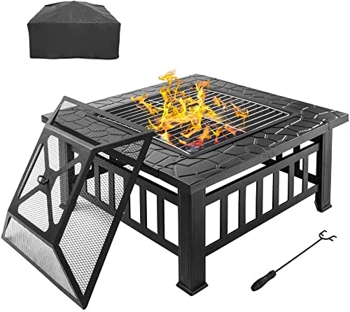 Bonnlo 32″ Outdoor Fire Pit