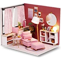 Cute Room DIY Miniature Dollhouse Kit with Furniture,Wooden Doll House Kit Plus & LED Lights,1:24 Scale DIY House Kit…