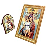FENGMICON Mother Mary Queen Of Heaven Icon Frame Set Catholic Gifts