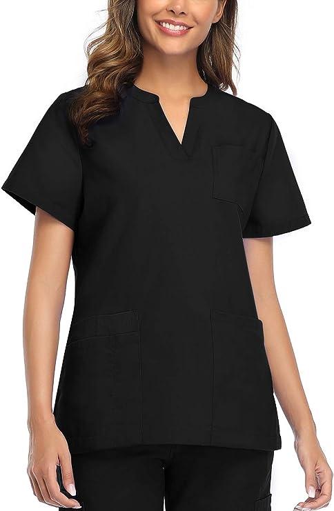 Women Scrubs Tops V-Neck T-Shirt Stretch Modern Fit