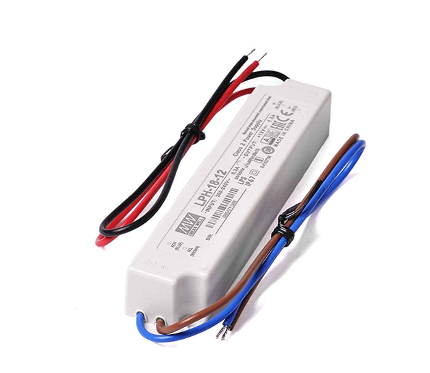 0595 c/ód KingLed MeanWell Fuente de alimentaci/ón Mean Well AC//DC LPV-60-12 60W DC 12V Resistente Al Agua IP67 Transformador Switching Mean Well para productos LED Serie LPV