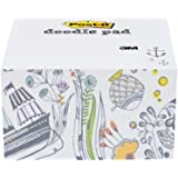 Post-it Notes Cube, Doodle Pad, Wonderer Design, 450 Sheets, 3.7 x 3.7 Inch