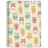 Etmamu 438 carnet couverture à motif chouettes format a5 60 pages lignées