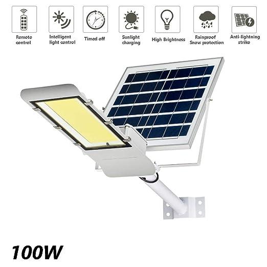 WOLJW Farola Solar Proyector Solar de Seguridad para Exteriores ...