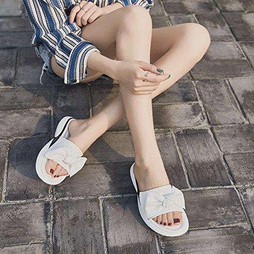 De Femme 39 Xing Belles Été White Sandales Plage Coréenne Dames Nouvelle Mode Pantoufle Guang black 36 Porter U6HqwUnrzx