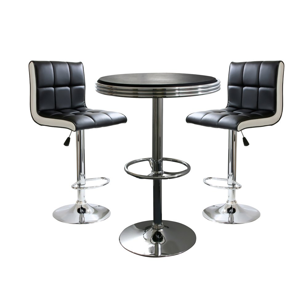 sc 1 st  Amazon.com & Amazon.com: AmeriHome 3 Piece Bar Table Set: Kitchen u0026 Dining