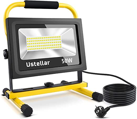 Ustellar 4000LM 50W Foco LED Trabajo con 5M Cable, LED Proyector ...