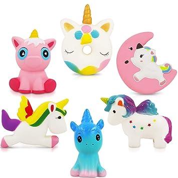 Amazon.com: exsport paquete de 3 Unicorn Squishy juguetes ...