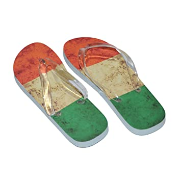 9c5578254a6 Distressed Irish Flag Design Mens Flip Flops (Blue Sole   Blue Straps UK  Shoe 7-11 Euro 40-45)  Amazon.co.uk  Garden   Outdoors