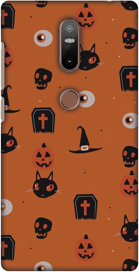 AMZER Slim Handcrafted Designer Printed Hard Shell Case Back Cover For Lenovo Phab 2 Plus - Spooky Collage