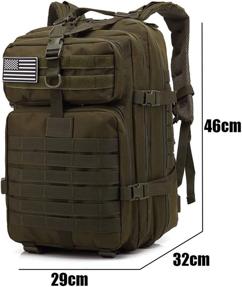 50L Large Capacity Man Army Tactical Backpacks Military Assault Bags Outdoor 3P EDC Molle Pack For Trekking Camping Hunting Bag A
