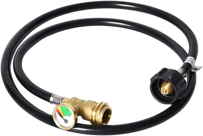 5FT High Pressure Grill Connector GasSaf Propane Gas Tank Gauge Extension Hose