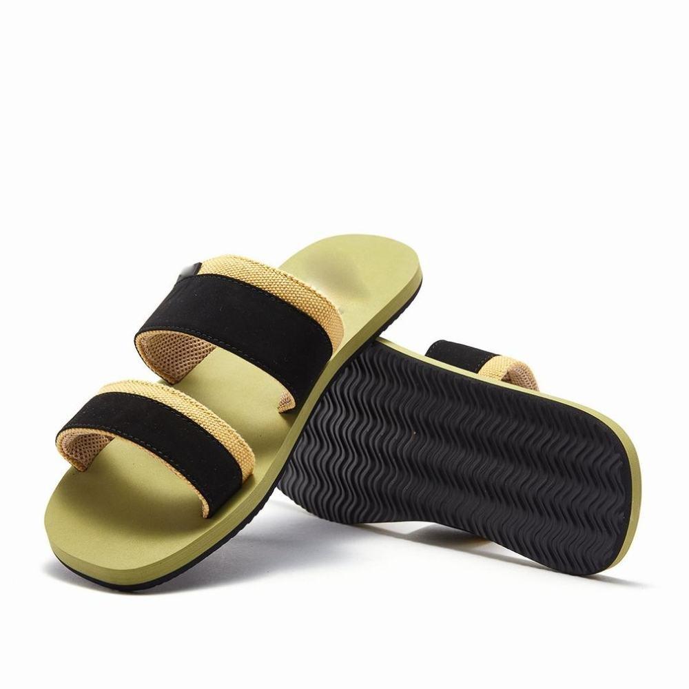 AN Las Sandalias de Moda de Verano los Hombres de la Moda Salvaje Playa Casual Zapatillas de Palabra Simples y Cómodos,A,40 40|A