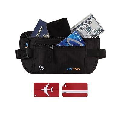 Money Belt Travel Wallet Hidden Passport Holder RFID Blocking Pouch
