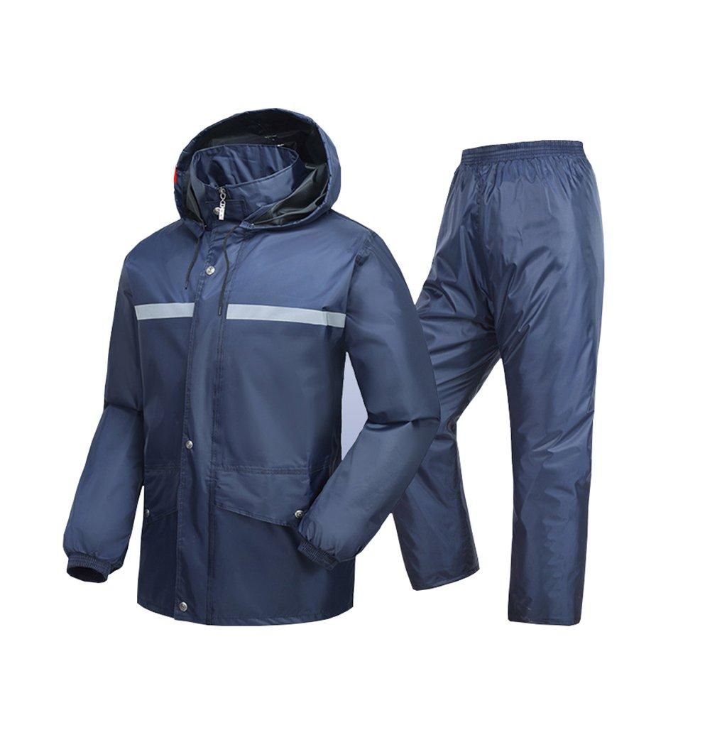 Mj-cj Rainsuit- Adult Waterproof Full Body Raincoat Rain Pants Split Suit (Size : XL)