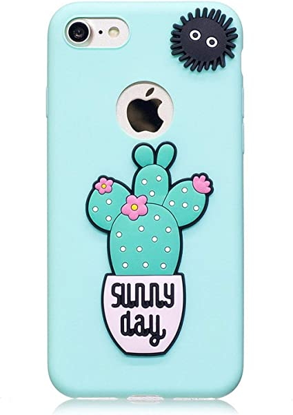 Phone Case for iPhone 6 S Capa Soft Cute 3D Cactus Food Lovely ...