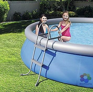 Bestway Escalera Pequeño 2 peldaños para piscina – Altura 76 Cm: Amazon.es: Jardín