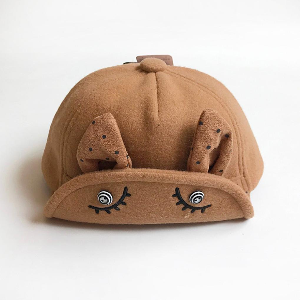 Suit for 1-6 Months Baby,DIGOOD Cute Baby Cute Cartoon Rabbit Baseball Cap Palm Soft Hats