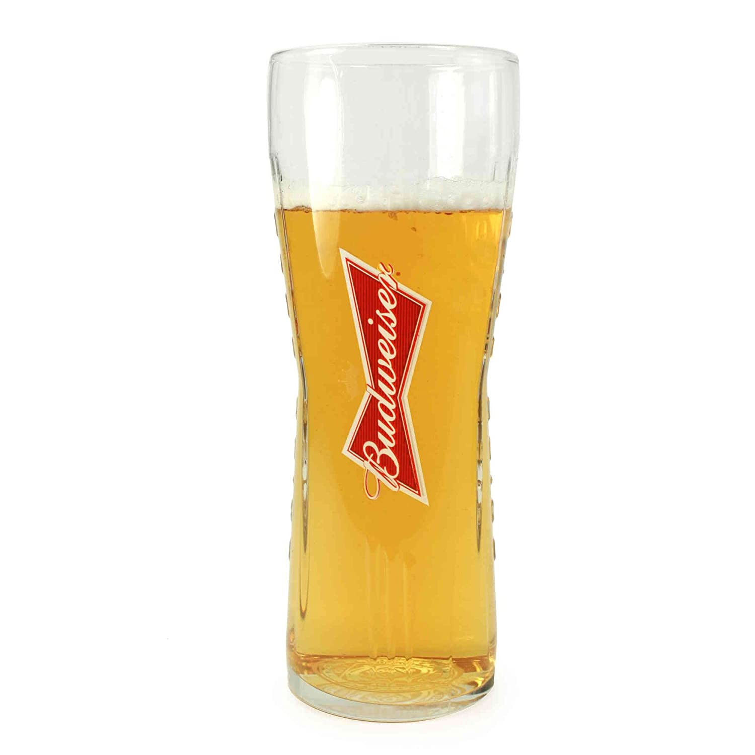 Personalised Engraved Budweiser Pint glass with 300 ml Bottle of