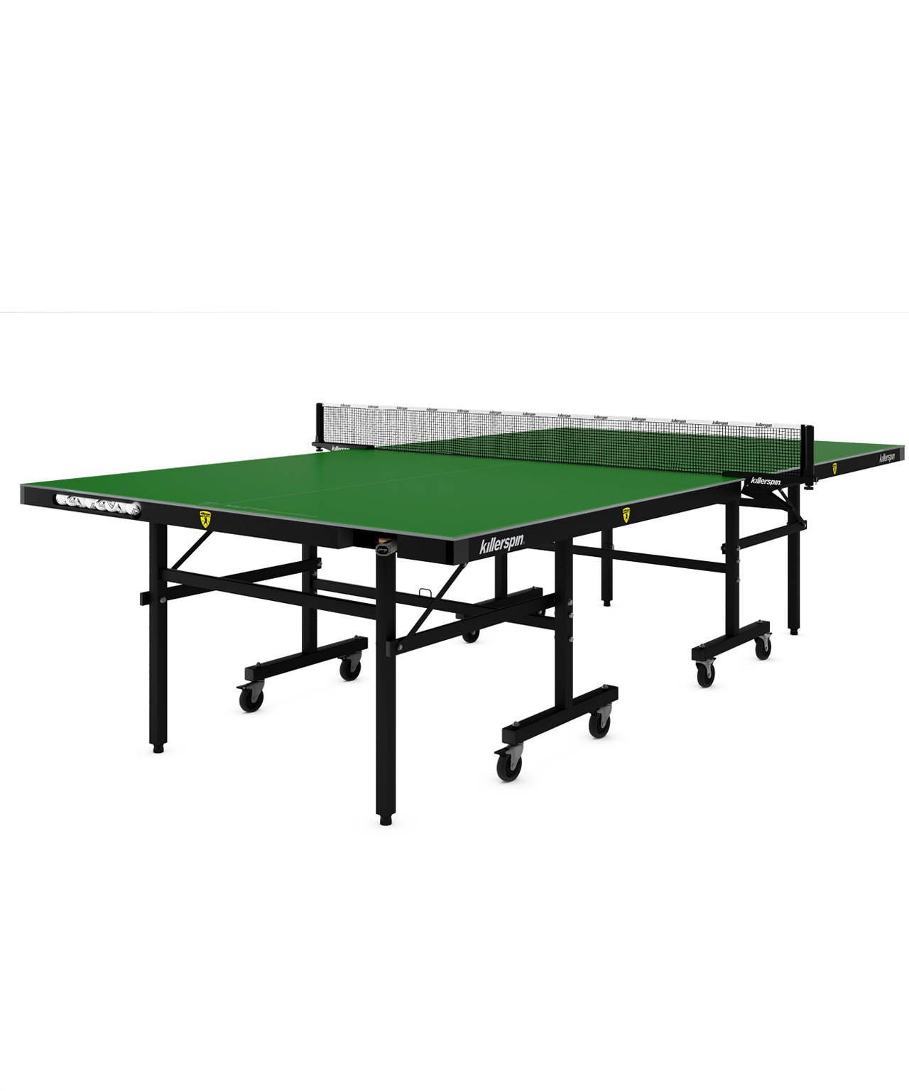Killerspin MyT10 Folding Ping Pong Table| Adjustable Weather Resistant Table Tennis Table with Storage Pockets| Tournament Quality Construction for Outdoor Competition| Emeraldcoast (Green)