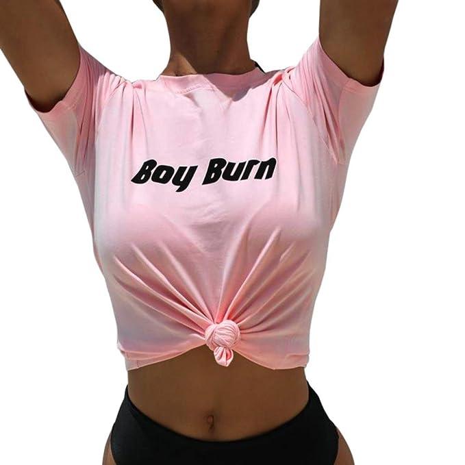 Cinnamou Blousa Para Mujer Tops, Ropa de Camisetas Cortas Manga Largo Mujer Patchwork Camisas de