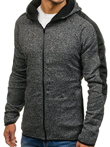 1a1 Pull De Éclair Capuche Sweatshirt Bolf 2917 Noir Coton Sport Fermeture 87wUAWxq