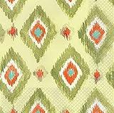Creative Converting 24 Count Elise Premium Patterned Beverage Napkins, Global Tapestry, Delhi