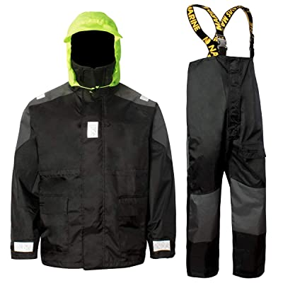 Navis Marine Coastal Sailing Jacket with Bib Pants Fishing Rain Suit Foul Weather Gear