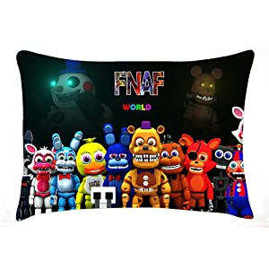 heizifang FNAF Five Nights at Freddy's Pillow Case Pillow Cushion Cover 20x30 Inches