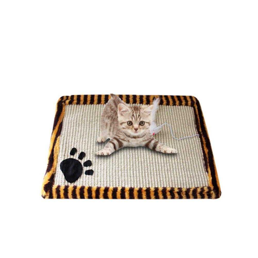 cart/ón Corrugado molienda iB/àste Rascadores de Gatos Garras Inclinado sisal mordida Resistente al Desgaste