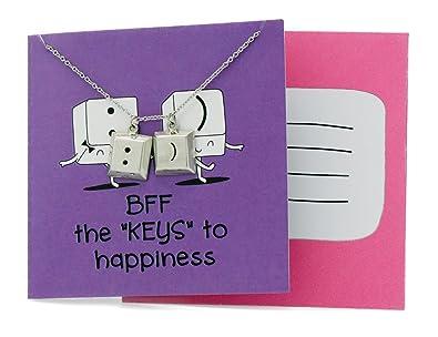 Amazon quan jewelry best friend necklaces funny puns quote on quan jewelry best friend necklaces funny puns quote on greeting card perfect bff gift m4hsunfo