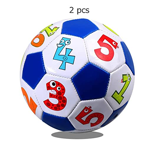 Balón de futbol Mini balón de fútbol Tamaño oficial 2 Pelotas ...