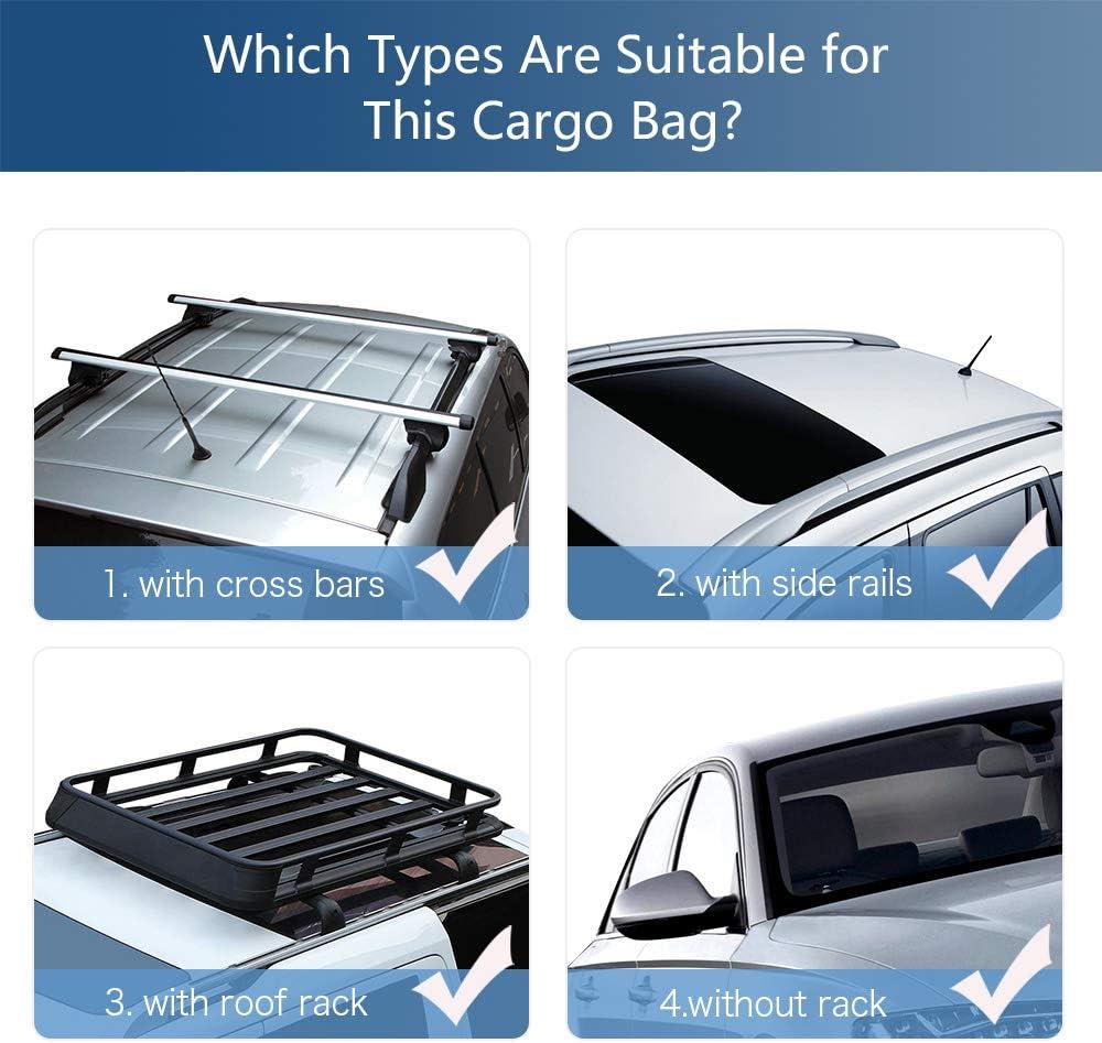 Tchipie Faltbare Dachbox f/ür Auto Schwarz Gro/ße Dachtasche 425L Geeignet f/ür die Meisten Autotypen Dachgep/äcktasche mit 4 T/ürhaken wasserdichte Dachgep/äcktr/äger-Tasche