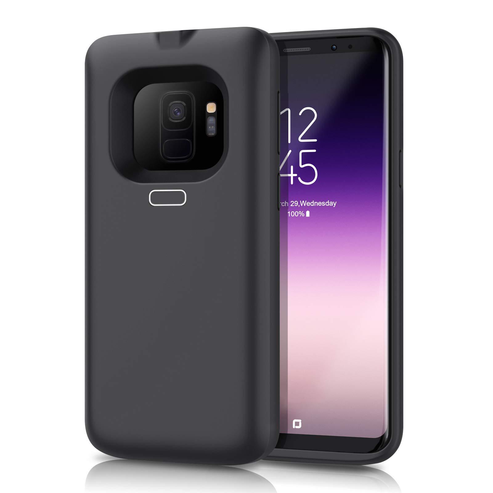 Funda Con Bateria De 5500mah Para Samsung Galaxy S9 Feob [7kjdj3pw]