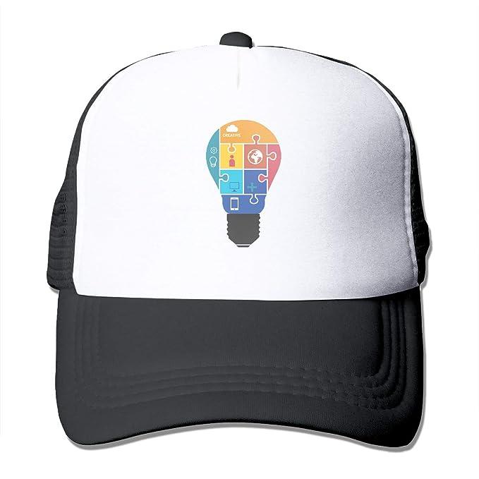fb8b31299cb WmMuryobao Unisex Light Bulb Puzzle Vintage Classic Cotton Dad Hat  Adjustable Plain Cap for Men Women Black at Amazon Men s Clothing store