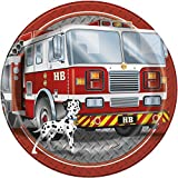 Fire Truck Birthday Dinner Plates, 8ct