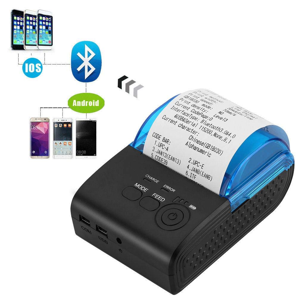 Eillybird Mini Impresora WiFi Térmica Bluetooth 4.0, Tickets ...