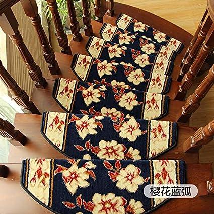 GJX-Alfombra de la escalera HJH- 5 conjunto de escalera estera, huella de peldaño, escalera de ratón, duradero, antideslizante, no contaminante, pegamento no falla después del lavado, no hay marcas de