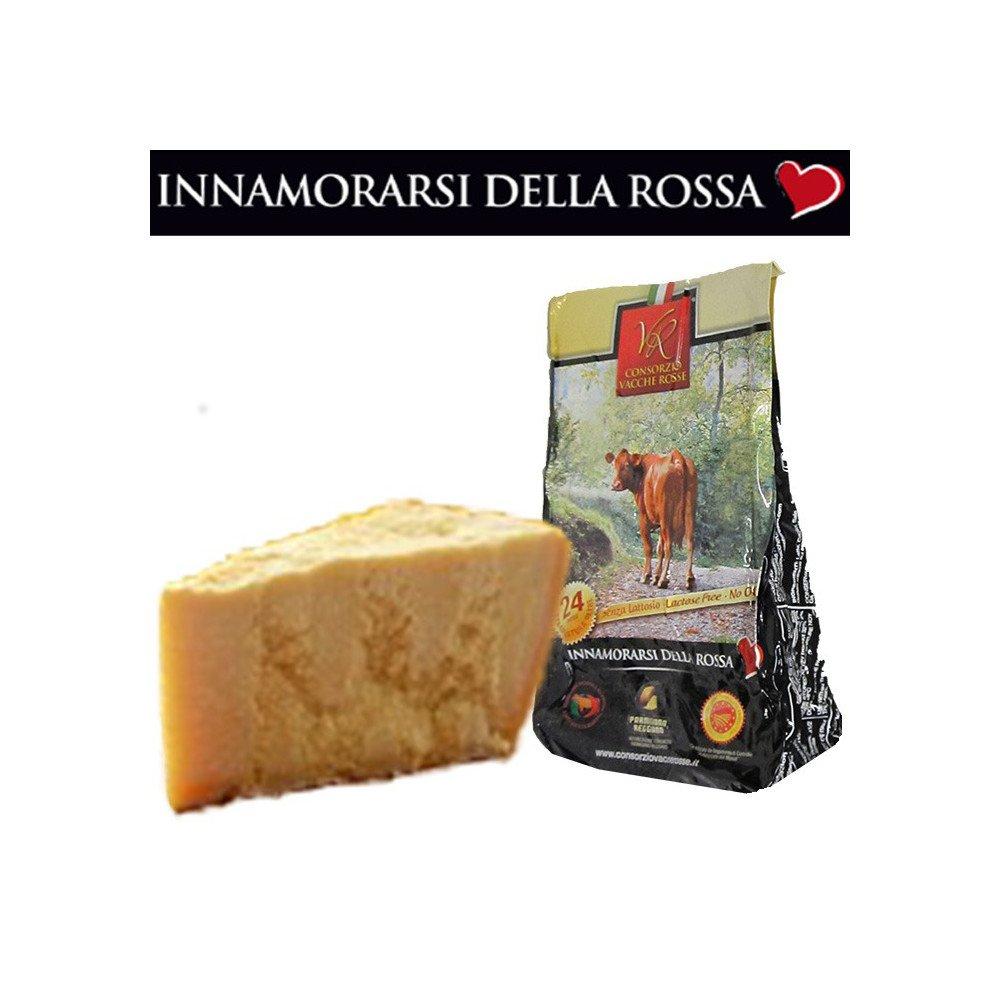 Parmigiano Reggiano PDO''VACCHE ROSSE/RED COWS'' seasoned 24/30 months, 2.2 lbs by Parmigiano Reggiano PDO Vacche Rosse (Image #1)