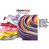 Zipperstop Wholesale YKK® 30 Inch 6pcs Assorted Hottest Colors YKK® #4.5 Handbag Zippers – Extra-long Pull Closed Bottom Color #119 Steel Grey, #506 Buttercup, #515 Holiday Pink, #519 Hot Red, #542 Candy Blue, #553 Lavender