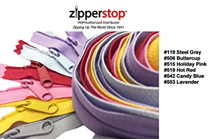 2239706aa900 Zipperstop Wholesale YKK® 30 Inch 6pcs Assorted Hottest Colors YKK®  4.5 Handbag  Zippers